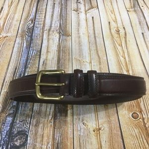 "Mens Brown Leather Cowhide Belt 42"" Length"
